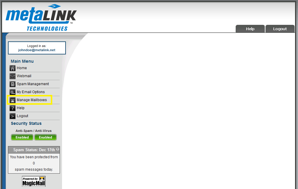Adding a New Email Address - MetaLINK Technologies